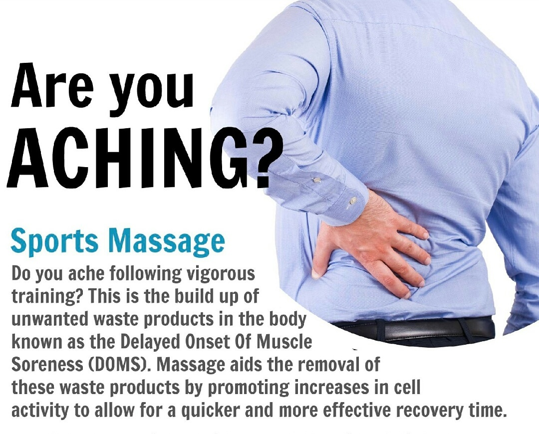 Are you aching?